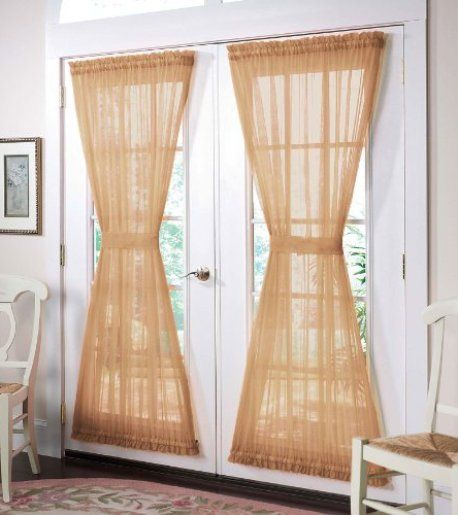 French door curtains 7 most stylish french door for Front door curtain ideas