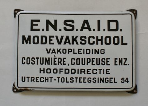 emaille bord mode vakschool ensaid Emaillebord
