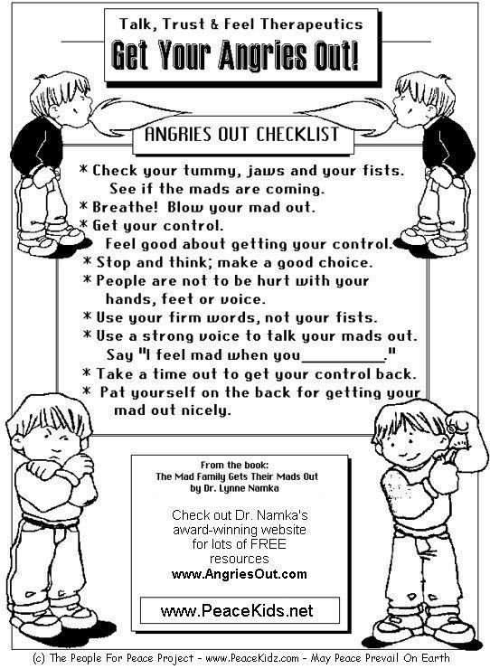 Anger Management Worksheets For Children Free Worksheets Library – Anger Management Worksheet