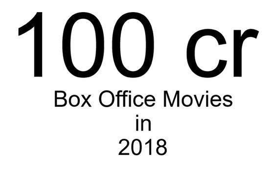 List of 100 cr club movies in 2018
