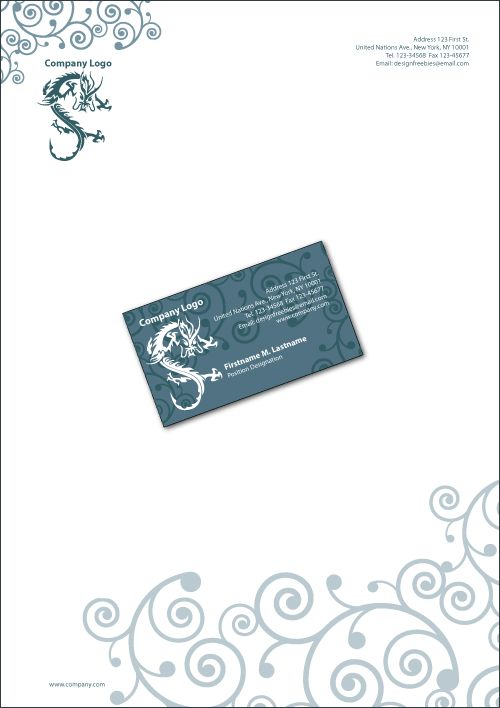 Free Illustrator Templates Business Cards and Letterheads