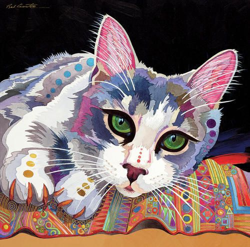 Cat by Bob Coonts. I like the abstract colour idea, might try it in my next projects.