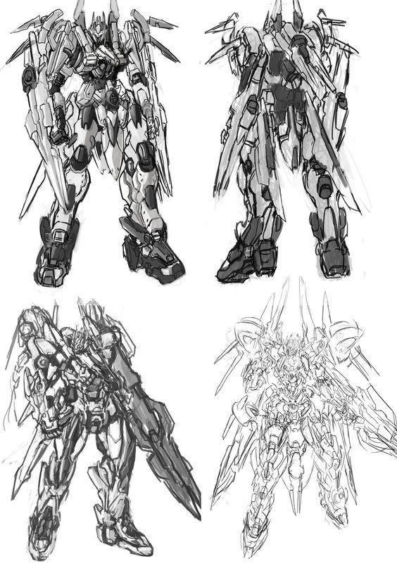 Mech variations sketch by Frost7.deviantart.com on @DeviantArt