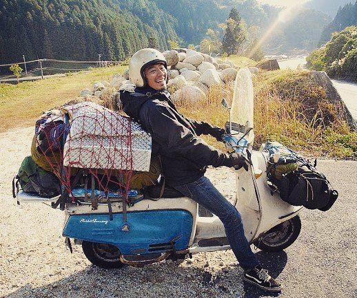 長野の若大将もとい、所長が過積載な件#鉄スクーター#ラビットスクーター#rabbitscooter…