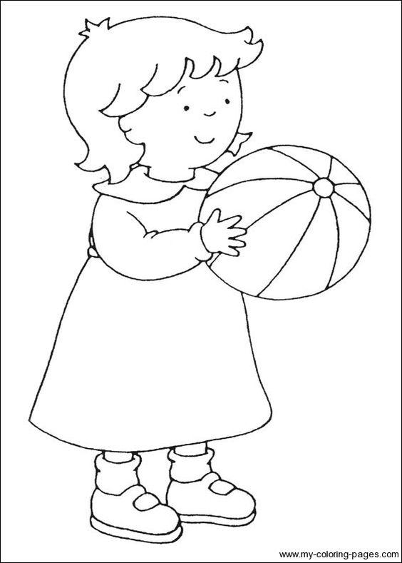 Zusje Met Bal Ballonnen Kleurplaten Thema