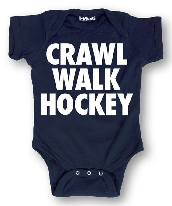 Look at this Navy 'Crawl Walk Hockey' Bodysuit - Infant on #zulily today!