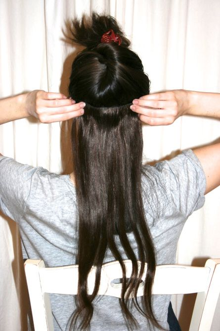how to use hair extensions without clips