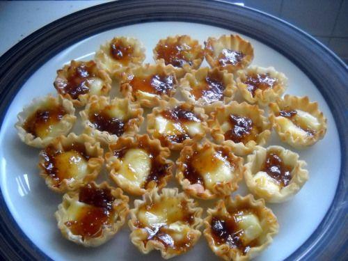 ... brie filo mini brie and more brie filo figs fig jam tarts mini tart