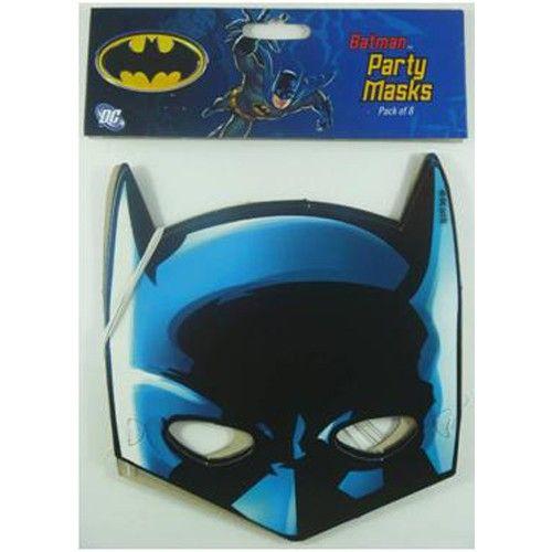 Batman Masks (Pack of 8) http://www.gopartysupplies.com.au/themes/boys-themes/batman/batman-masks-pack-of-8
