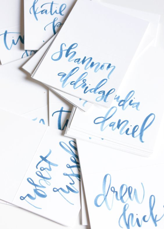 Watercolor calligraphy fonts letters pinterest