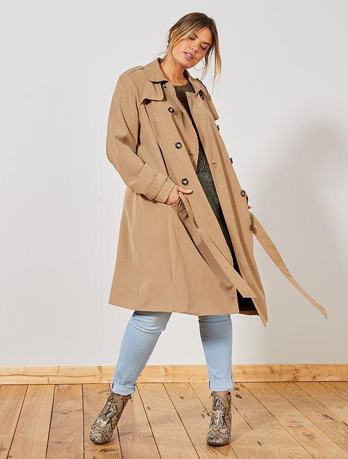 Trench coat Manteaux Veste de Grande Taille pour Femme