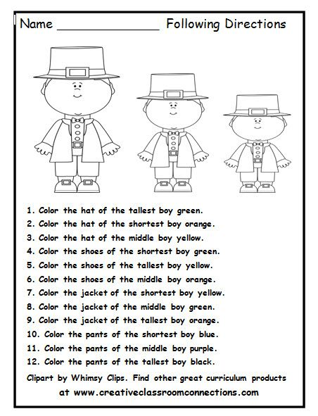 Follow directions worksheet 2nd grade