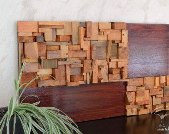 16 Pared de madera reciclada