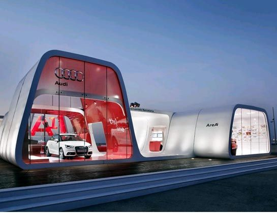 Cars posts and architecture on pinterest for Car showroom exterior design