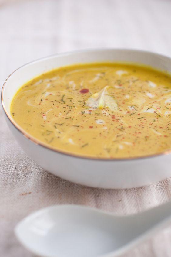 Creamy Spiced Cauliflower Soup - looks wonderful. once again, no oil ...