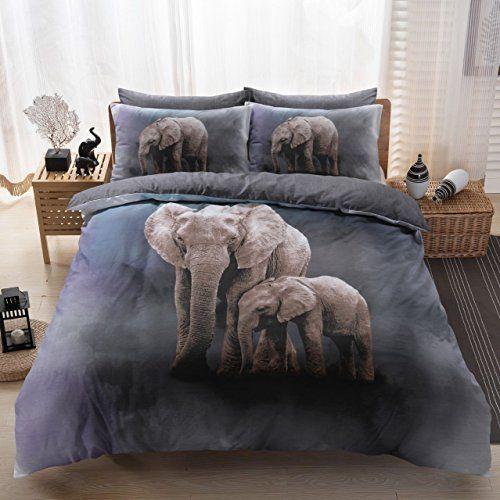 Eirene Threadz Ellephant Cat Unicorn Printed Polycott Https Www Amazon Co Uk Dp B07b235mrj Ref Cm Sw Bed Linen Design Duvet Cover Sets Black Bed Linen