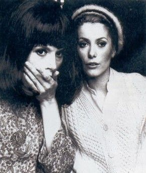Catherine Denueve with her sister Francoise Dorleac
