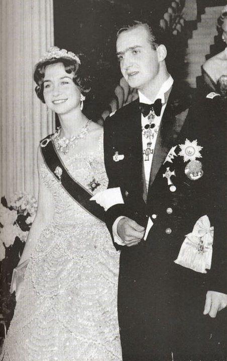 HRH Princess Sophia of Greece and Denmark wearing the Mellerio Shell tiara during her pre-wedding ball