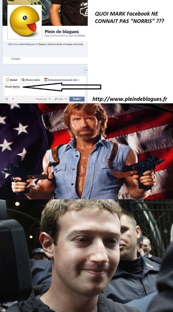 Chuck Norris VS Mark Zucherberg de Facebook | Plein De Blagues