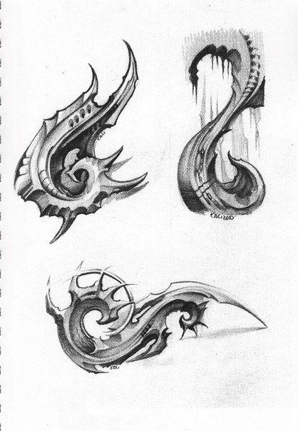Biomech Tattoo Sketchbook By Kali Biomechanical Tattoo Bio Organic Tattoo Sketch Book