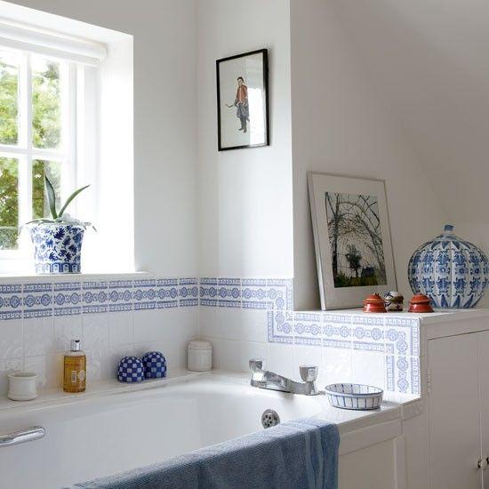 John lewis croft collection blakeney white interiors for Orange and blue bathroom designs