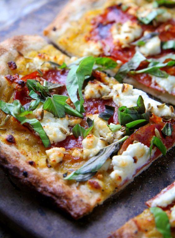 Goat Cheese and Fresh Basil | Recipe | Goat Cheese Pizza, Fresh Basil ...