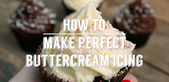 How to make perfect buttercream icing
