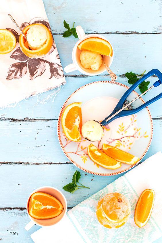 Orange Lemon Balm Sorbet | Savory Nothings