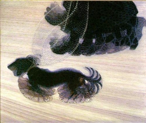 -Giacomo Balla    -Dynamisme d'un chien en laisse     -1912   -Huile sur toile    -90,8 x 110 cm