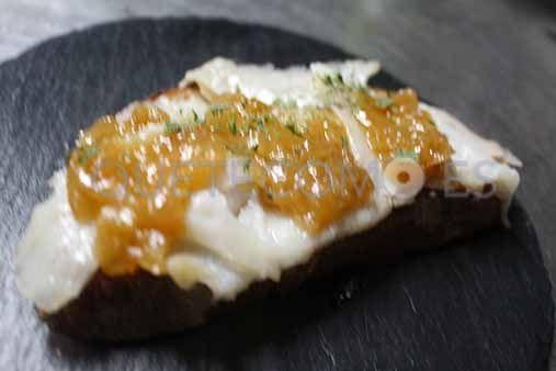 Tosta de bacalao ahumado | Restaurante tapería Ojú en Vigo