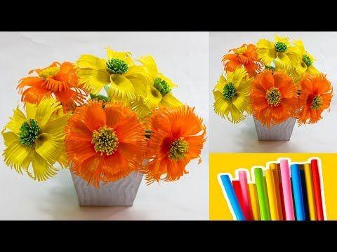 Cara Membuat Bunga Dari Sedotan Yang Elegant Dan Mudah Straw