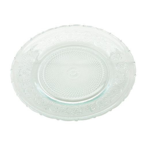 Glass Fleur de Lis Charger 12″