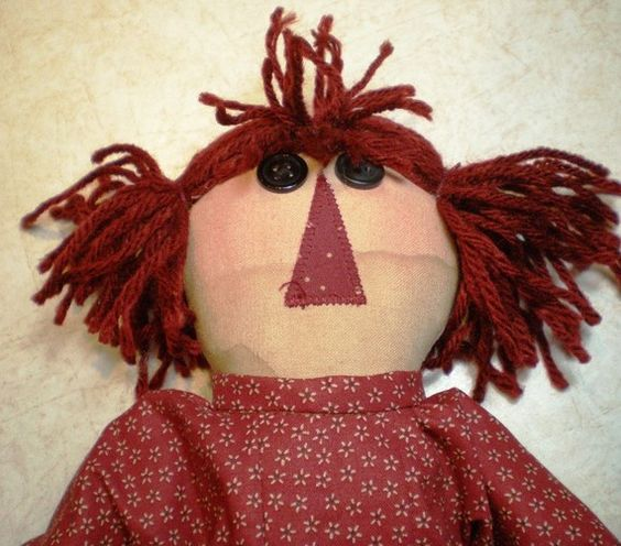 Raggedy Doll  Vivian  Red Dress by tinsandtreasures on Etsy, $25.00  Handmade in Aberdeen, SD