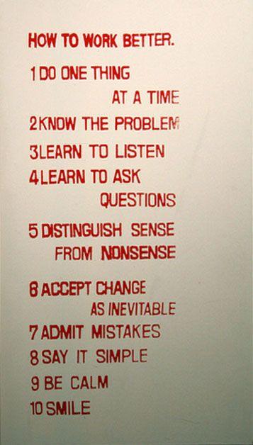 Fischli  Weiss, 'How to work better' (1991)