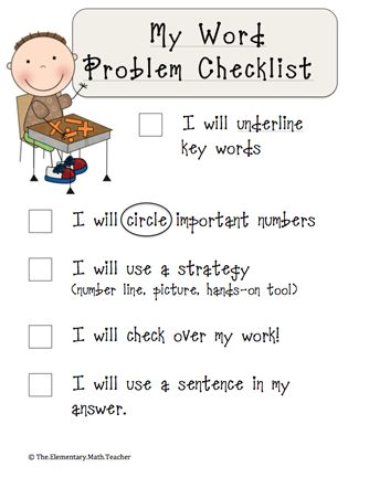 Here's a checklist for students to help them remember steps in ...