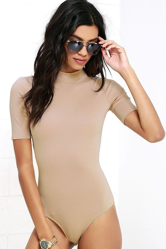 Whenever Wear-ever Beige Bodysuit at Lulus.com!: