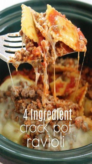 Crockpot Ravioli Casserole Recipe