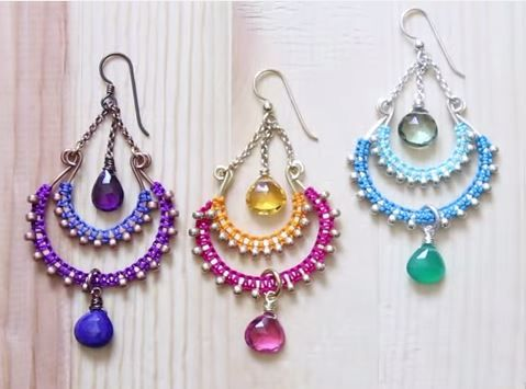Seaweed earrings diy craftbnb bollywood chandelier earrings tutorialthe beading gems journal mozeypictures Gallery