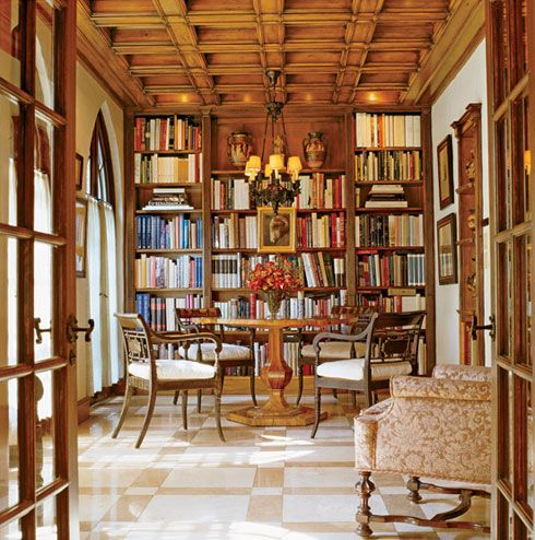home library: Dining Room, Home Libraries, Favorite Places Spaces, Library Rooms, Library Study Room Bookshop, Dream Home, Library Ideas