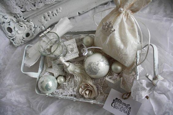 Adventskranz - *Adventsdeko*Adventsgesteck,*Körbchen*Shabby Chic* - ein Designerstück von ifb bei DaWanda