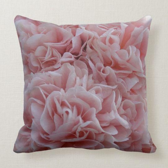 Pink Velvet Flowers Mallow Throw Pillow Zazzle Com In 2020 Velvet Flowers Throw Pillows Throw Pillows Custom