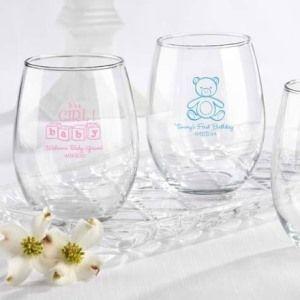 Personalized Stemless Wine Glass 15 oz. (Baby)