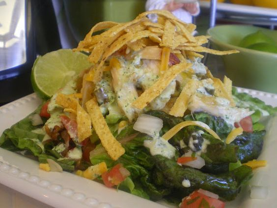 bajio green chili chicken salad