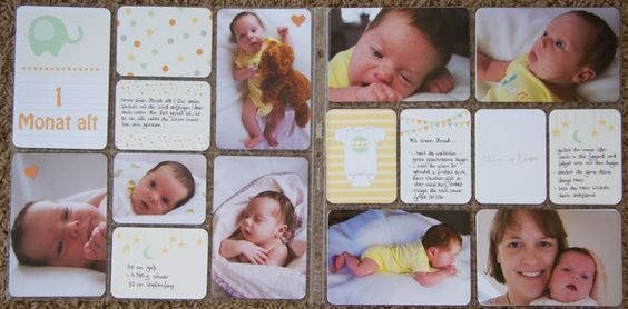 """Baby-spread """"1 month old"""" Using Project Life by Stampin´Up!  #plxsu"""
