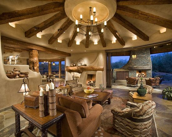 Family Room Log Cabin Design, Pictures, Remodel, Decor and Ideas - page 4