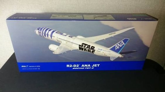 STAR WARS R2-D2 ANA Original JET 1/200 Scale Model Plane Boeing 787-9 Japan 749