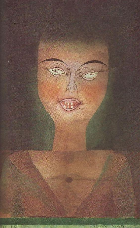PAUL KLEE Besessenes Mädchen Kunstdruck Farbdruck Art Print aus den 50er Jahren | eBay