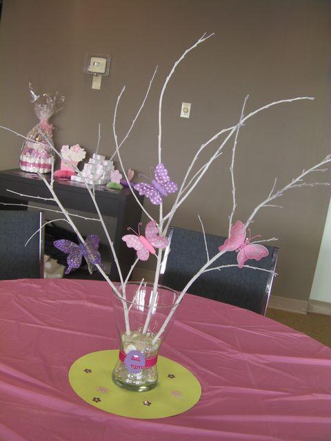 Chá de bebê, Borboletas and Chuveiros on Pinterest - centros de mesa para baby shower