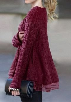 #219  Solid Loose Sweater