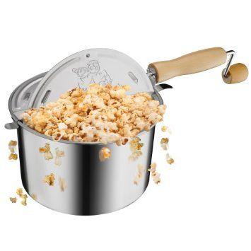 Amazon.com: Great Northern Popcorn Original Stainless Steel Stove Top 6-1/2-Quart Popcorn Popper: Kitchen & Dining